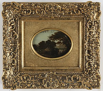 UNKNOWN ARTIST, 19th Century, a pait, oil on plate.