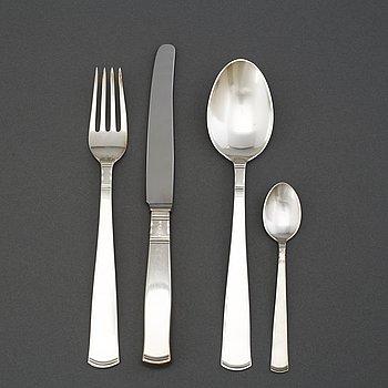 48 pieces of cutlery 'Rosenholm' by GAB Stockholm and Eskilstuna.
