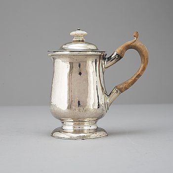 A silver jug by John Langlands, Newcastle, England, 1769.