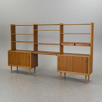 A teak and oak veneered shelf system, 1950's/60's.