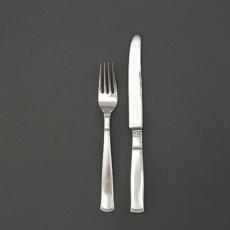 20 pieces silver cutlery 'rosenholm' by gab stockholm and eskilstuna