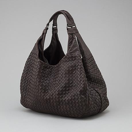 A bottega veneta bag in brown intrecciato-leather.