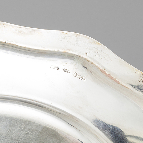 Cg hallberg, a pair of silver dishes from stockholm, 1939 56