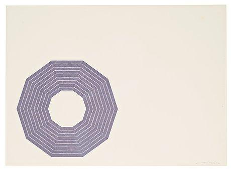 "Frank stella, ""purple series"" (3)."