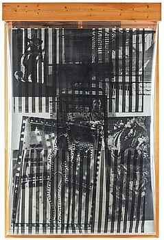 "445. Robert Rauschenberg, ""Sling-Shots lit #8, Black State""."