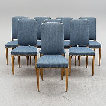 "CARL MALMSTEN, stolar, 8 st, ""Gustavus"", Åfors Möbelfabrik."