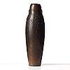 Hugo elmqvist, an art nouveau patinated bronze vase, stockholm, early 1900's.