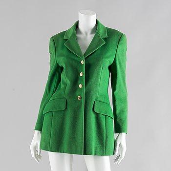 A green wool jacket by Escada.