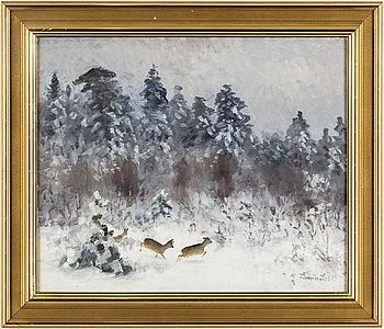 LINDORM LILJEFORS, oil on panel (masonite), signed Lindorm L and dated -66.