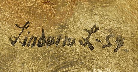 Lindorm liljefors, oil on panel (masonite), signed lindorm l and dated  59
