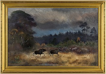 LINDORM LILJEFORS, oil on canvas, signed Lindorm L.