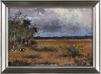 LINDORM LILJEFORS, oil on masonite, signed Lindorm L and dated -47.