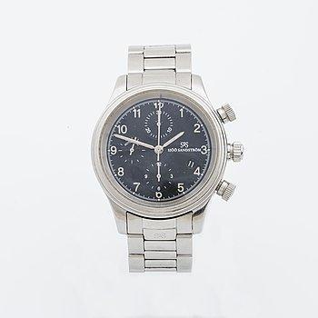 SJÖÖ SANDSTRÖM, Royal Steel Chronograph Black, armbandsur, 42 mm.