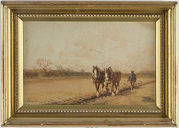 OKÄND KONSTNÄR, 18/1900-tal, akvarell, signerad och daterad -09.