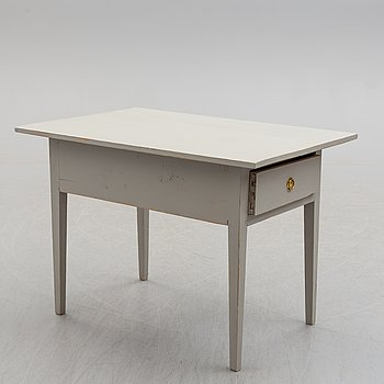 A mid 19th century painted table.