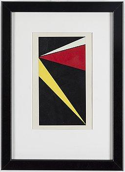 OLLE BAERTLING, colour serigraphe, unsigned, from Konkret konst, Vilhelm Bjerke Petersen, Raben & Sjögren, Halmstad 1956.