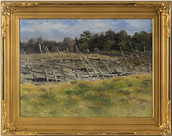 BRUNO LILJEFORS, oil on canvas, signed Bruno Liljefors and dated 1936.