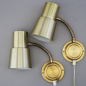 a pair of 1970's wall lights.