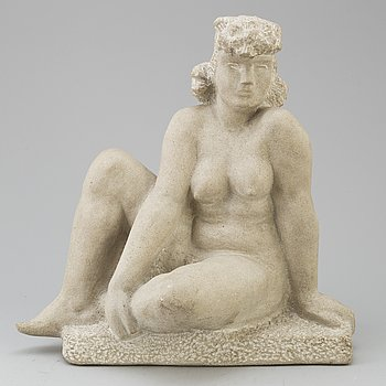 THORWALD ALEF, skulptur, stengods, signerad.