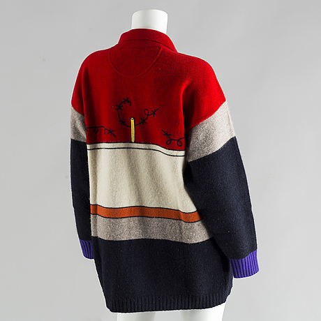 A 1980's wool sweater by jean charles de castelbajac.