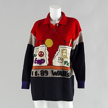 A 1980's wool sweater by Jean Charles de Castelbajac.
