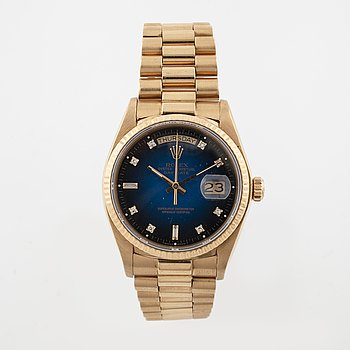 ROLEX, Oyster Perpetual Day-Date, wristwatch, 36 mm.