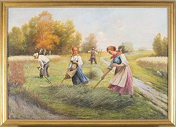 ADOLF BAUMGARTNER, oil on canvas, signed A. Baumgartner Jun.