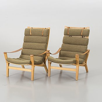 0b500c203a07 A PAIR OF ARM CHAIRS BY KNUD FAERCH for KÄLLEMO.