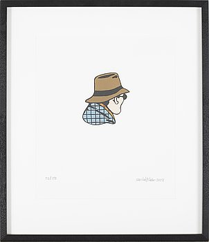 JAN HÅFSTRÖM, lithography in colors, signed, numbered 52/150 and dated 2004.