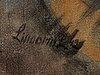 Lindorm liljefors, oil on canvas, signed lindorm l and dated  42
