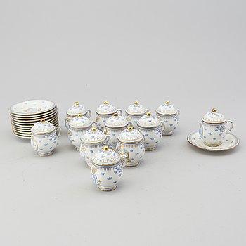 Twelve porcelain dessertcups by Rörstrand, 20th century.