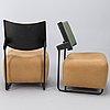 Harri korhonen, four 'oscar' easychairs for inno interior. finland. designed 1989.