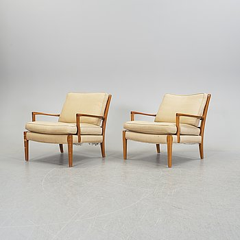 A pair of easy chairs by Arne Norell, late 20th century.