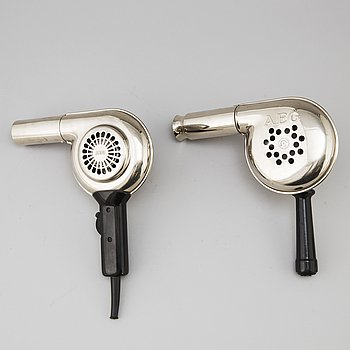 Two hair dryers from AEG, 1930's.