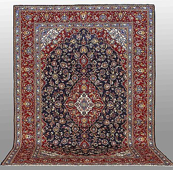 A carpet, Keshan, around 410 x 290 cm.