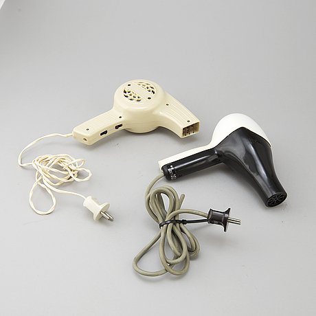 Two hair dryers from schweiz and italy, 1950's.
