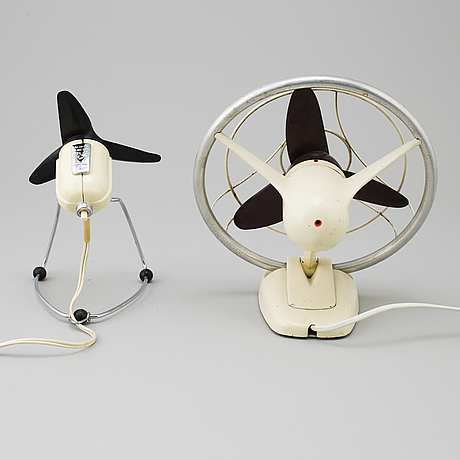 Two table fans, from aeg and siemens, 1950's.