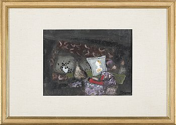 JAMES COIGNARD, oil on paper, signed.