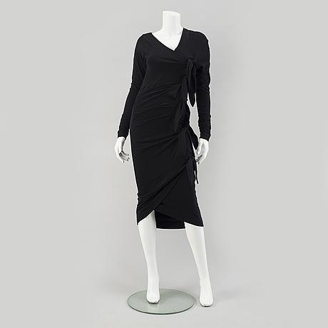 A 90's black  dress by marcel marongiu.