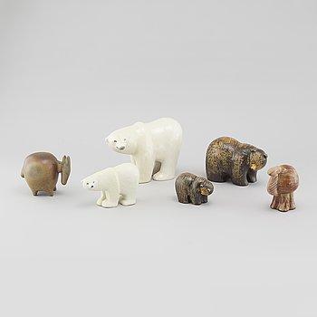 LISA LARSSON, figuriner, 6 st, för Gustavsberg, Sverige.