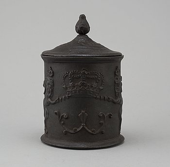 TOBACCO BOX, cast iron, Hellefors Bruk, late 18th / early 19th century.