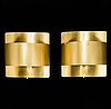 Peter celsing, two 'band' brass wall lights from fagerhults and falkenbergs belysning