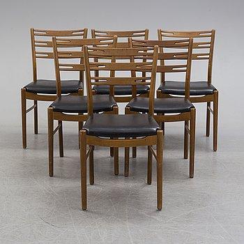 STOLAR, 6 st, Sibast Furniture, Danmark, 1900-talets mitt.