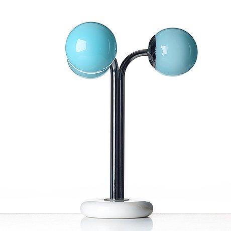 """Superstudio, a """"polaris"""" table lamp by design center poltronova, italy 1960-70's."""