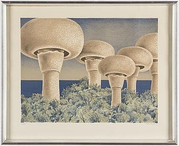 FOLKE LIND, lithograph in colours, signed 63/99.Dated -75.