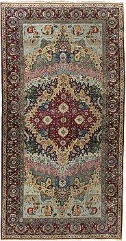 64. CARPET, Isfahan, antique, 674x357 cm.