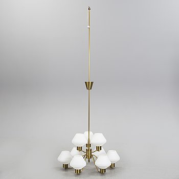 A 1940/50´s brass ceiling lamp.