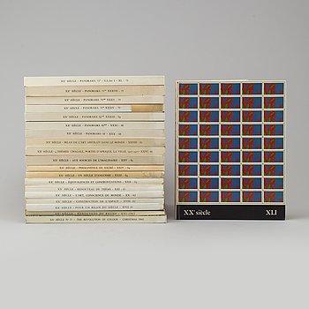 """BÖCKER. """"XXe Siècle"""", 20 stycken med originallitografier, från år mellan 1960-1973."""