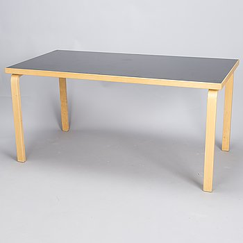 ALVAR AALTO, a late 20th century  '81A', table for Artek.
