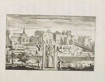 KOPPARSTICK, 5 st ur Erik Dahlbergs 'Svecia antiqua et hodierna, 1700-tal.